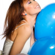 Woman holding ballons — Stock Photo #4169269
