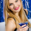 Stock Photo: Sexy woman with cocktail