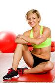 Žena v tělocvičně — Stock fotografie