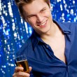 Man with champagne — Stock Photo #4360778