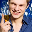 Man with champagne — Stock Photo #4360786