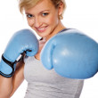 Smiling fit woman — Stock Photo