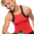 Woman doing fitness exercise — Stock Photo #5307468