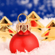 Stock Photo: Christmas ornaments and trees