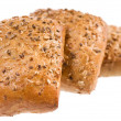 Three crunchy grainy rolls — Stock Photo