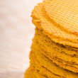 Stock Photo: Orange color wafer