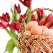 Royalty-Free Stock Photo: Eggs in wickerwork basket