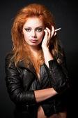 Portrait of beautiful young redhead woman — Stock fotografie
