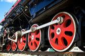 Koła lokomotywa — Zdjęcie stockowe
