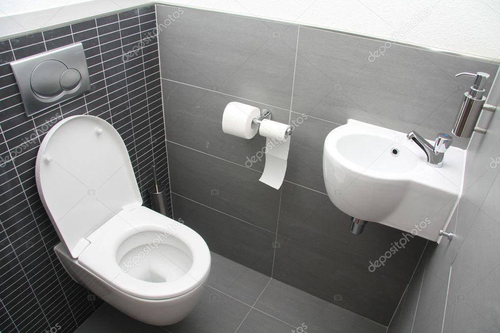 Banheiro em tons de cinza — Fotografias de Stock © portosabbia #4585431 -> Banheiro Cinza Moderno