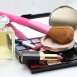 Make up, perfume and accessories — Stock Photo