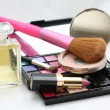 Stock Photo: Make up, perfume and accessories