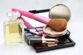 Make up, parfym och accessoarer — Stockfoto