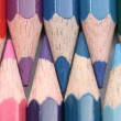 Pink purple and blue colorpencils — Stock Photo