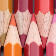 Stock Photo: Pink, red and brown colorpencils