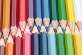 Collection of colorpencils — Stock Photo