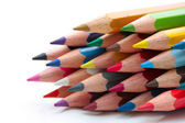 Stack of new color pencils — Stock Photo