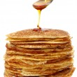 Honey and pancakes — Stock Photo #5160341