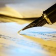 Signing contract — Stock Photo