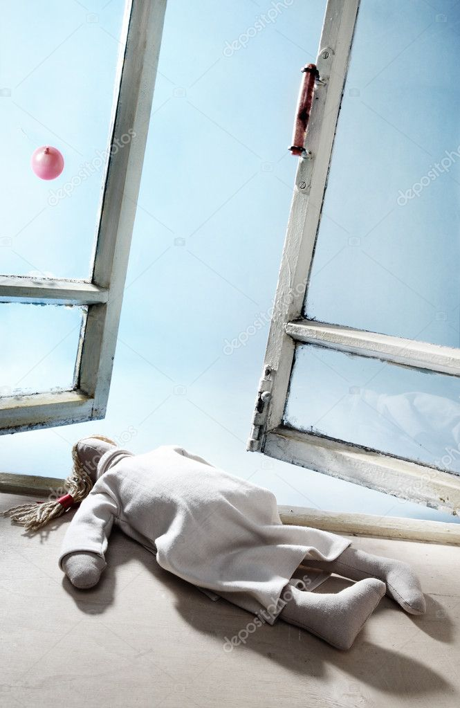 Prostrate rag doll — Stock Photo #4450170