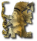The vector mayan and inca tribal — Stock Vector