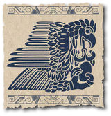 The vector mayan and inca tribal on old paper — Wektor stockowy