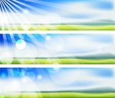 The vector summer blurs banners — Stock Vector