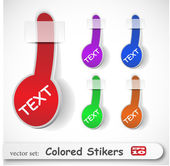 The abstract colored sticker set — Stock Vector