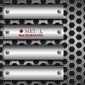 Abstrakt metalliska bakgrunden — Stockvektor