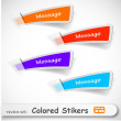 Royalty-Free Stock Imagen vectorial: The abstract colored sticker set