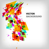 The abstract square colorful background — Stock Vector
