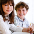 Girl and boy learning — Stock Photo #4627506