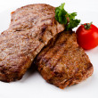 Grilled steaks - Stock Photo