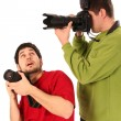 Professional photographers in action — Foto Stock