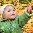 Stock Photo: Baby at a park in Autumn