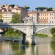 Ponte Vittorio Emanuele II in Rome, Italy — Stock Photo #4612844