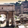Landscape view of roman forum in Rome, Italy — Stock Photo #4613062