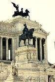 Vittorio emanuele w rzym, włochy — Zdjęcie stockowe