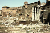 Landscape view of roman forum in Rome, Italy — Stock Photo