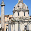 Traian column and Santa Maria di Loreto in Rome, Italy - Stock fotografie