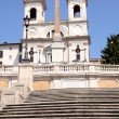 Spanish Steps in Rome Italy - Stock Photo
