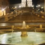 晚上的 di spagna 广场在罗马,意大利 — 图库照片