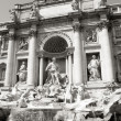 The Trevi Fountain in Rome, Italy - Stock Photo