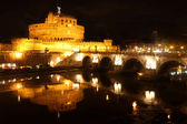 Castel Sant' Angelo night in Rome, Italy — Stock Photo