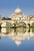 Vatican City from Ponte Umberto I in Rome, Italy — Stock Photo