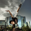 Stock Photo: Dancer in city