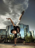 The dancer in a city — Stock Photo