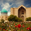 Hodzha Ahmet Jassaui's mausoleum - Stock Photo