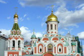 Cathedral of Our Lady of Kazan on Red Square, a fragment — Stock Photo