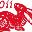 Royalty-Free Stock Vector Image: Chinese Zodiac of Rabbit Year.